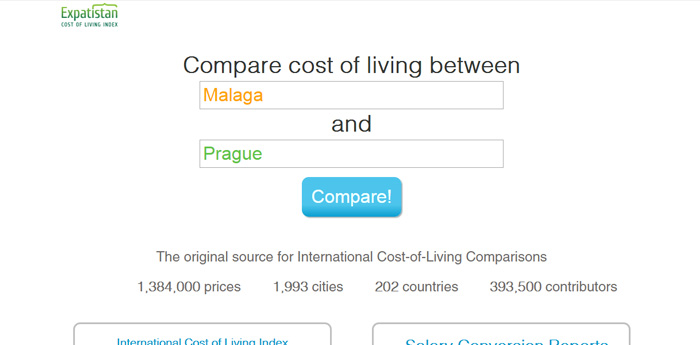 comparar paises expatistan