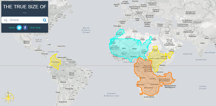 the true size of comparar paises